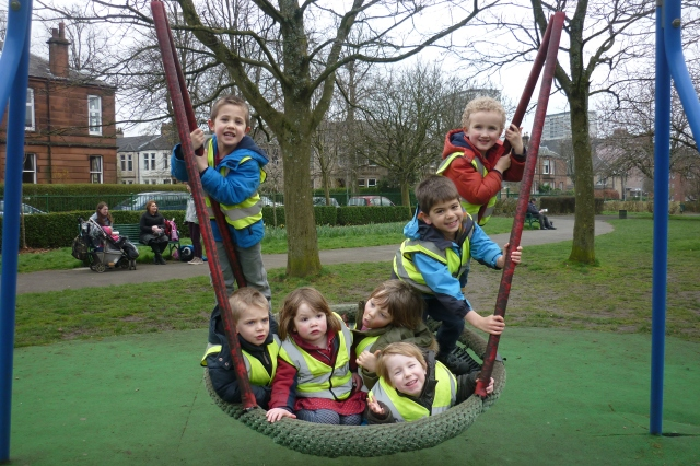 We did like this park. It's name is Naseby Park and it is in Thornwood. We liked this tyre swing, and the climbing frames and we had fun using the binoculars too!!! One disadvantage was the mud!!
