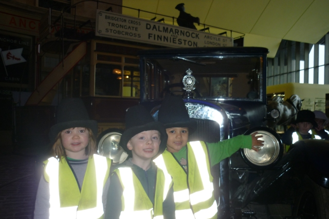 Don't we look super cool in our bowler hats, checking out all the old stuff in here!!